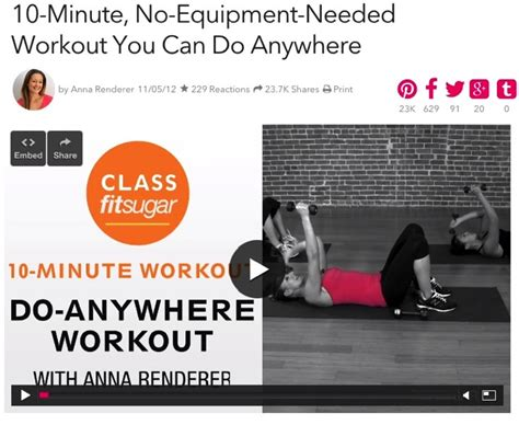 popsugar 10 minute workout no equipment beginner s workout