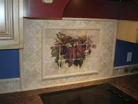 tile murals for kitchen backsplash marble tile murals pacifica tile art studio