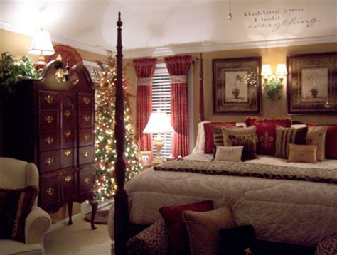 fresh christmas bedroom with fireplaces design