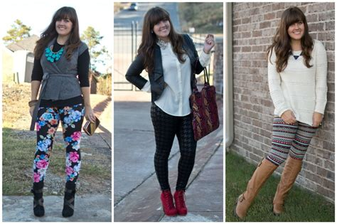 what to wear with patterned leggings how to wear printed leggings three ways for fall aj