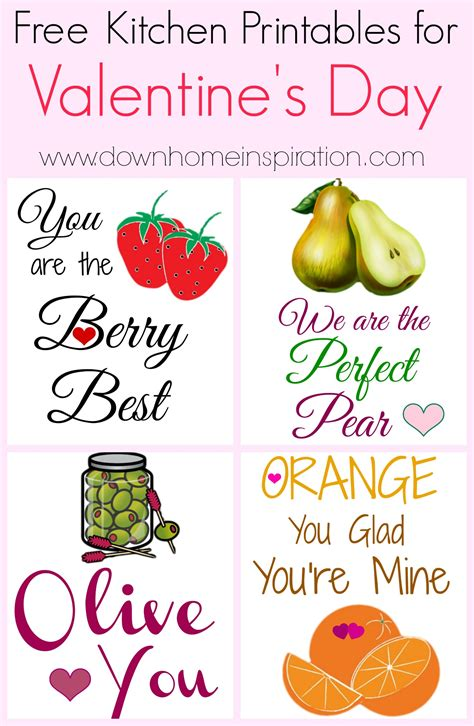 Free Kitchen Printables by Free Kitchen Printables For S Day Home