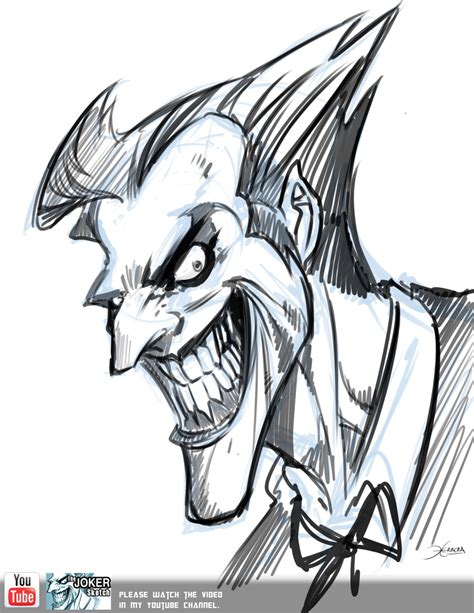 joker sketch video by el grimlock on deviantart