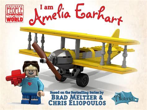 Lego Plane Yellow 1 lego ideas i am amelia earhart