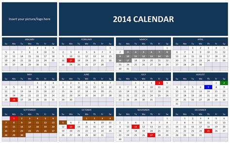 2014 monthly calendar excel template 2014 excel calendar images