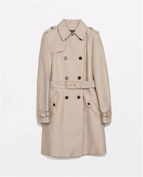 In Coat by Zara Cotton Trench Coat In Beige Lyst