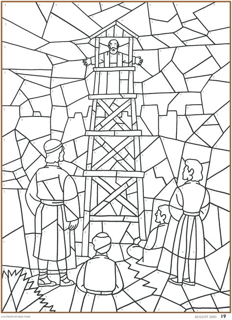 coloring pages lds lesson ideas