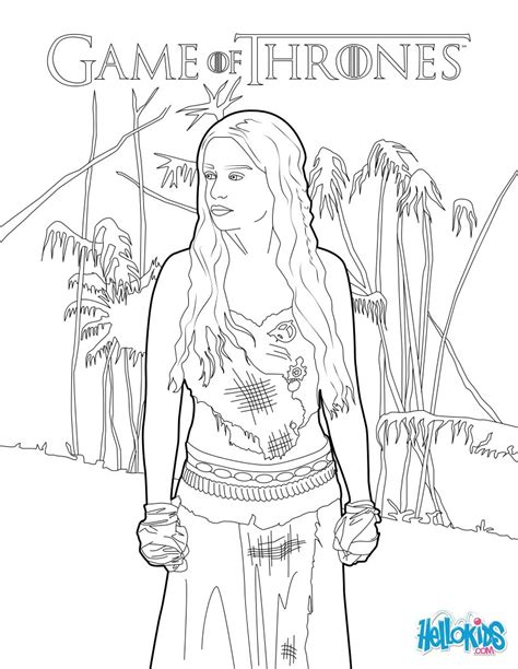 game of thrones princess daenerys targaryen coloring