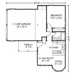 One Bedroom Floor Plans With Garage by 1 Bedroom House Plans Page 5