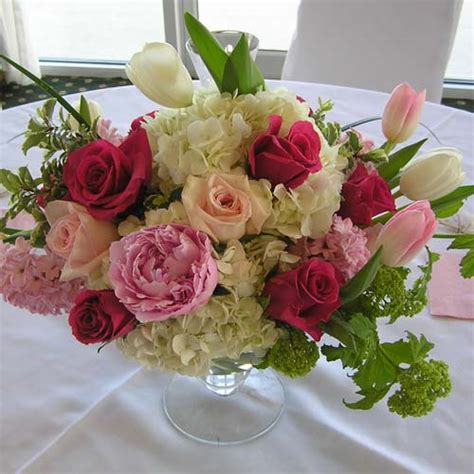 Wedding Floral Arrangements by Center Floral Arrangements Bayberry Flowers