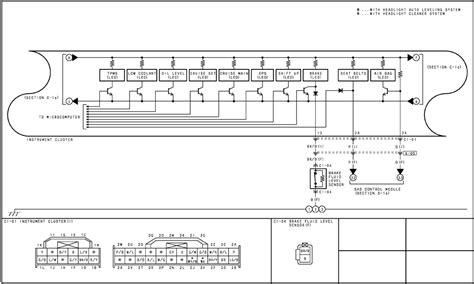 mazda miata instrument cluster wiring diagram mazda