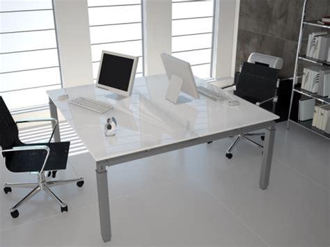 bureau bench bureau bench en verre 2 personnes epsilon