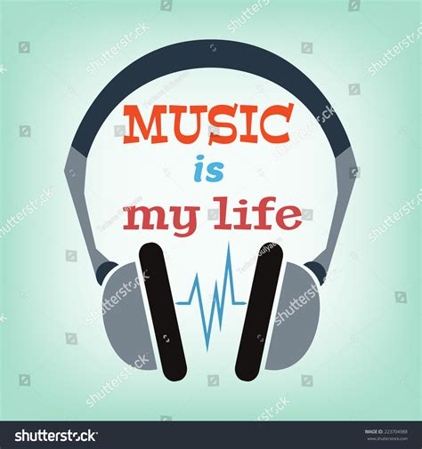 design is my life music my life typography modern style stock vector