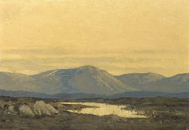 paul henry, r.h.a. (1876 1958) , sunset in the mourne