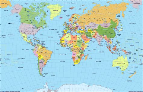 the world atlas of world political map