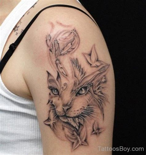cat tattoo on shoulder cat tattoos tattoo designs tattoo pictures page 7