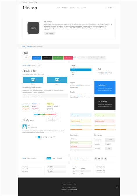 uikit templates from themeforest gt gt 26 beaufiful uikit
