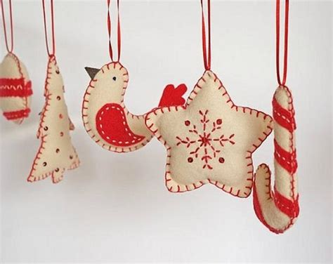Handmade Tree Decorations Ideas - felt ornaments awesome decoration for