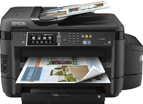 Printer Epson Format Besar epson workforce et 16500 ecotank wide format wireless all in one printer black et 16500 ecotank