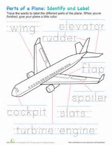 airplane parts worksheet education com