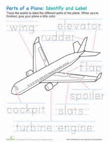 Airplane parts worksheet education com