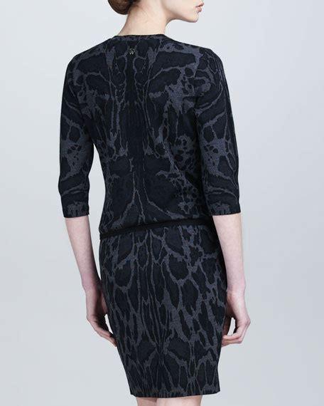 Bj 122 Leopard Dress With Belt Gray roberto cavalli leopard print knit dress black gray