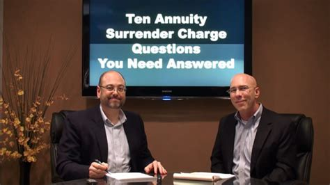 annuity surrender chargestop ten questions answers annuity guys