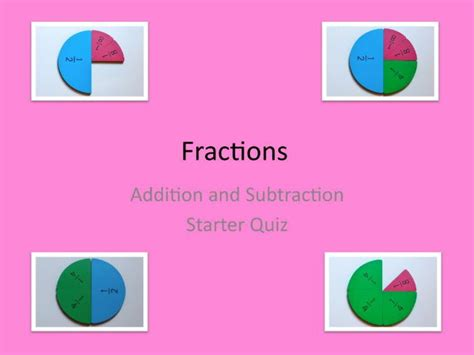 powerpoint tutorial ks2 maths ks2 and above fractions two quizzes in powerpoint