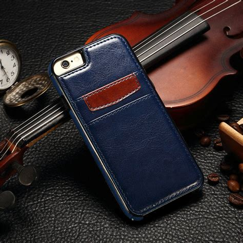 Leather Casesilikon For Iphone 5 5s Se 6 6s 6 Plus 7 7s 7 Plus luxury leather wallet card holder phone cover for