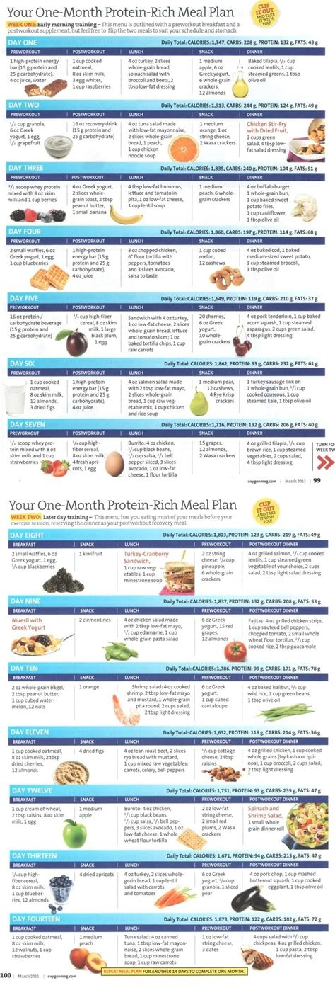 protein meal plan protein rich meal plan week 1 2 to live
