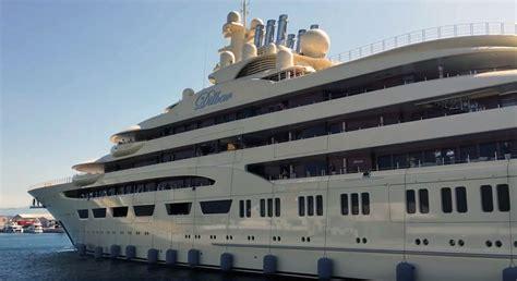 yacht dilbar dilbar entering gibraltar video megayacht news