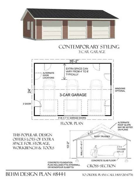 garage office plans garage recommended 3 car garage plans ideas 3 car garage