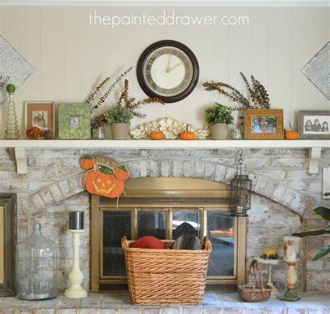 hometalk ideas for white washed my whitewashed brick mantel for fall hometalk