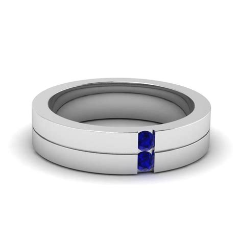 collection  mens blue sapphire wedding bands