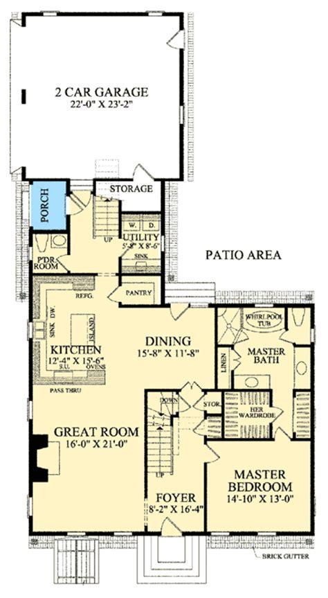 Cape Cod With Open Floor Plan   32514WP   1st Floor Master