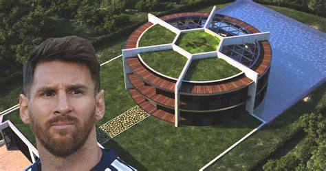 soccer house lionel messi s house is shaped like a soccer ball chrome lips