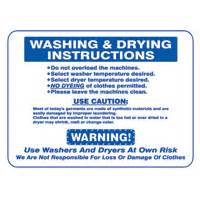 Dryer Sign On Clothes Blue Ribbon Supply Signs Laundry