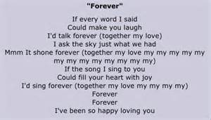 forever the lyrics are so