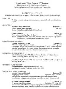Pediatric Onology Sle Resume by Psych Resume Exles Resumes Design