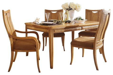 american drew antigua 6 leg table dining room set in