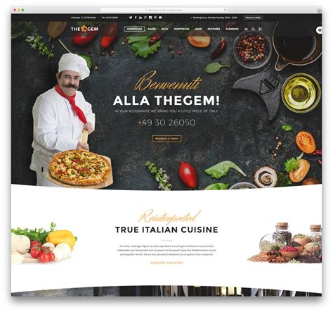 web cuisine 40 best restaurant themes 2018 colorlib