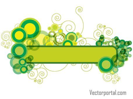 design banner green green abstract floral banner design vectors clipart me