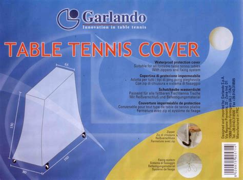Ping Pong Table Covers Waterproof by Garlando Outdoor Ping Pong Table Tennis Cover Upc