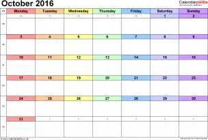 Calendar October 2016 Calendar October 2016 Uk Bank Holidays Excel Pdf Word