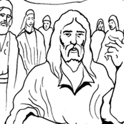 coloring page jesus preaching how to draw jesus preaching