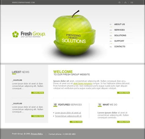 free flash 8 templates free flash 8 template template