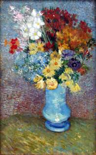 flowers in a vase gogh