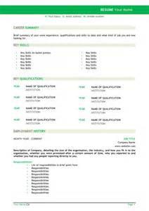 australia resume format