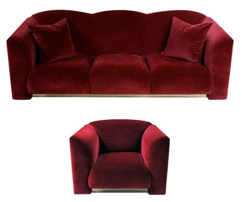 plush sofas sale art deco style plush red velvet sofa club chair for sale