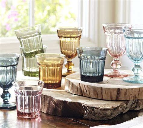 pottery barn inspired decor colorful cafe glassware by pottery barn retro style