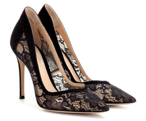 gianvito black lace and suede pumps gt shoeperwoman